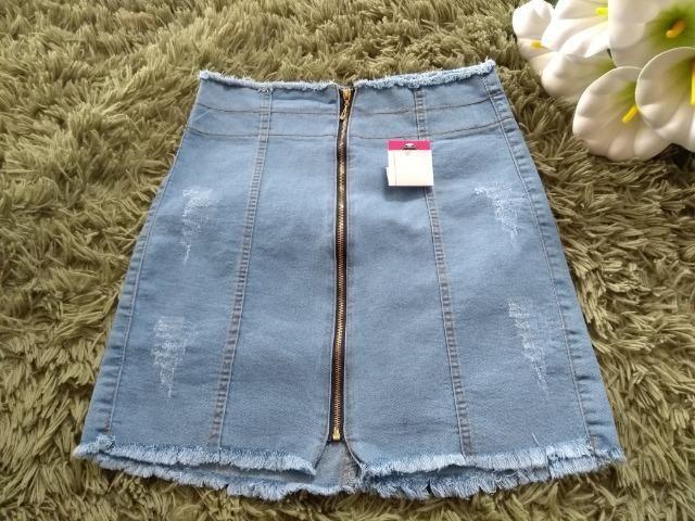 Short Jeans Feminino Alicia com elastano, numeração 36, 38, 40, 42 e 44 - Foto 2