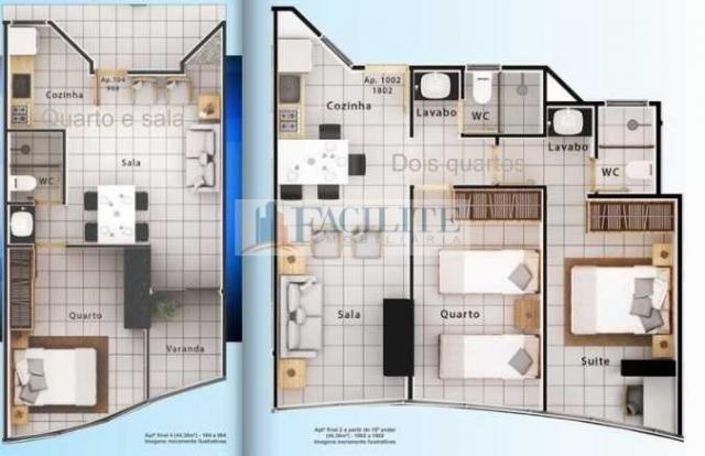 Apartamento à venda com 1 dormitórios em Miramar, João pessoa cod:21928 - Foto 2