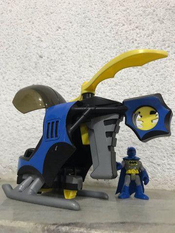 Helicóptero do batman Imaginext DC comics  - Foto 6