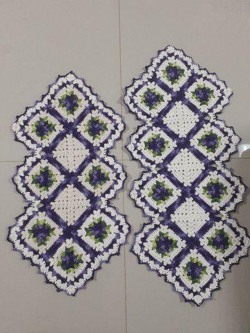 Tapete de croche caminho de mesa - Foto 4