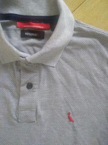 Camisa pólo Reserva G cinza - Foto 2