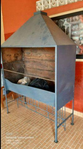 Vendo churrasqueira abaixe p vender logo - Foto 4