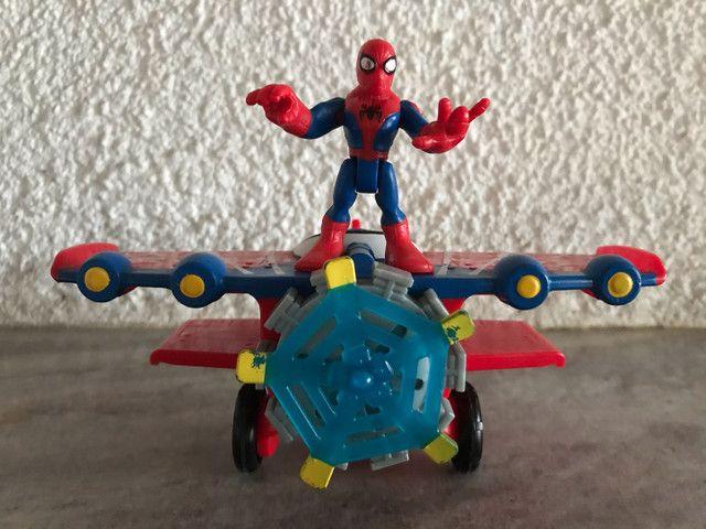 Avião aranha Marvel homem aranha spiderman Imaginext