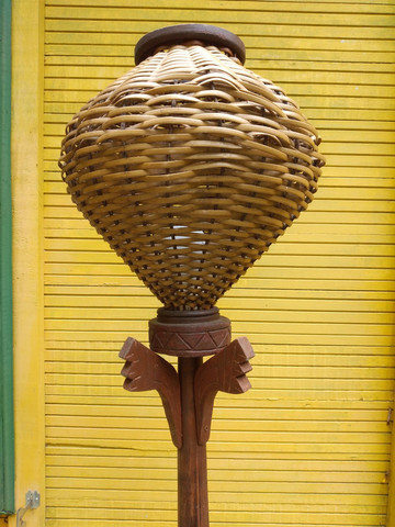 Luminária artesanal 1,80m