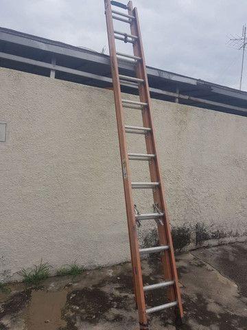 Escada extenciva em fibra e Almino 500REAIS  - Foto 2