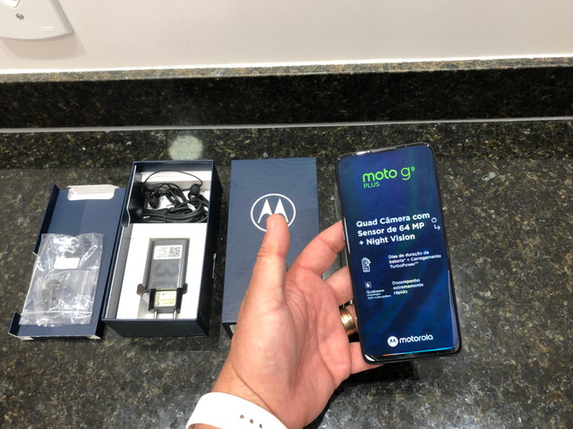 Moto G 9 PLUS 128gb/zero cx/Anatel/garantia 1 ano/Ac Trocas !! - Foto 5