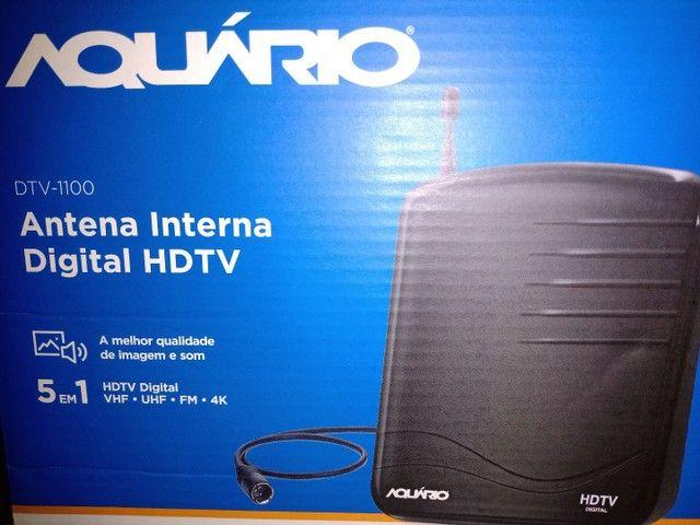[Imperdível]Antena interna DIGITAL HDTV / 4k ..5 em 1 Aquário. R$65,00 <br> - Foto 4