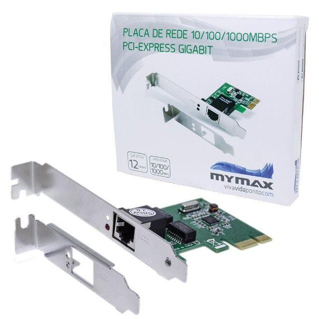 Placa De Rede 10/100/1000Mbps / PCI Express / Gigabit - Novo - Foto 2