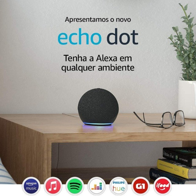 Alexa Echo Dot 4 Geração Original Amazon Lacrada em Portugues - Foto 4