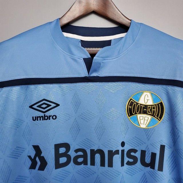 camisa do Grêmio nº 3 em comemoração aos 125 anos de futebol no brasil
