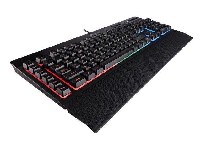 teclado e mouse com fio corsair (36059-7) ch-9206115-br k55 rgb 6000dpi - Foto 3