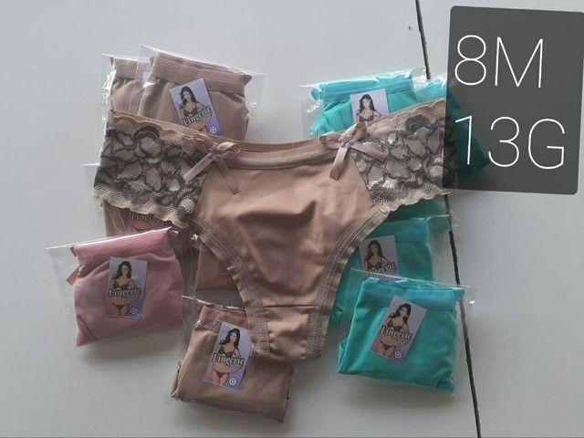 Kit 10 Calcinhas com renda R$60,00 - Foto 5