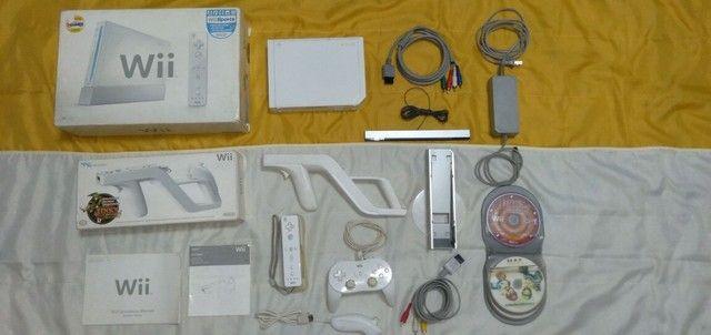 Nintendo Wii completo com arma e jogos originais  - Foto 4