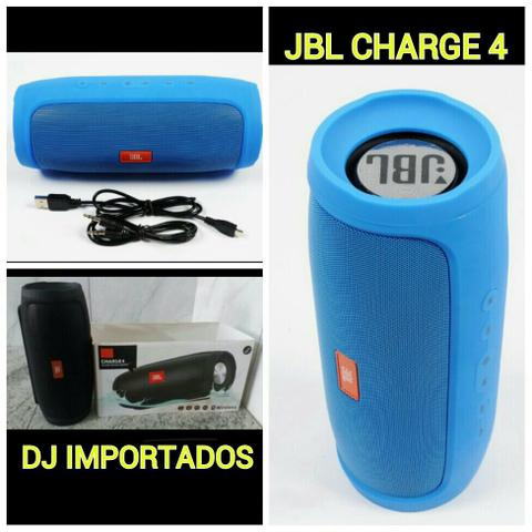 JBL charge 4 Bluetooth, usb, sd, entrada auxiliar apenas RS 180.00