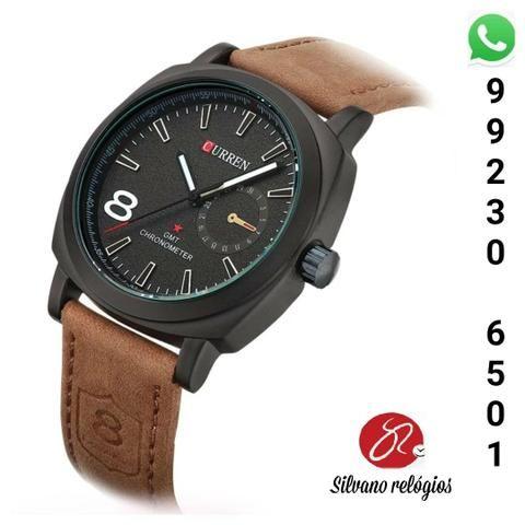 2b418bc5b64 Relógio Curren pulseira de couro - Bijouterias