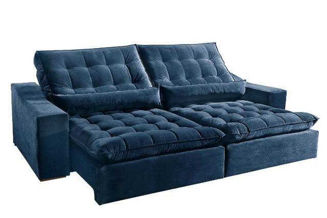 Sofá retrátil e reclinável 2,90 Embalado Novo