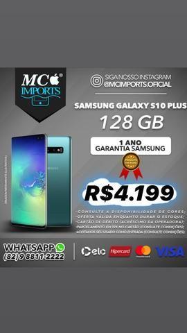 Samsung Galaxy s10+ plus 128gb branco, preto ou azul, lacrado com nf - Foto 5