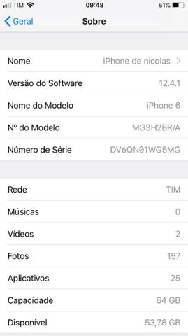 Iphone 6 64GB Spacial Gray/Cinza Espacial - Foto 4