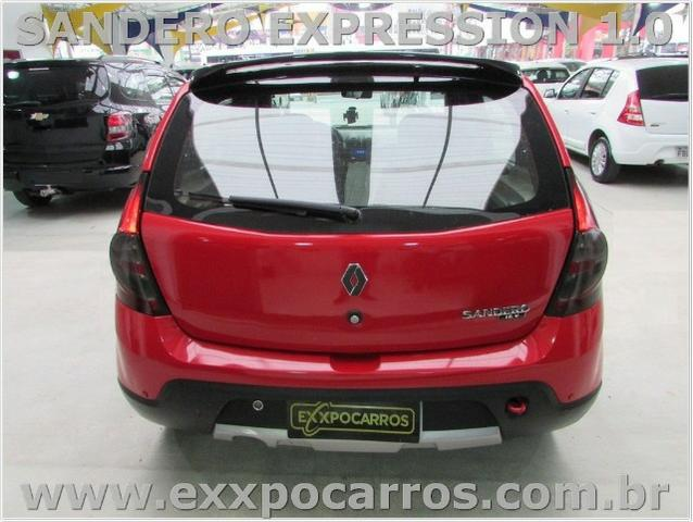 Renault Sandero Expression 1.0 Flex - Ano 2010 - Teto Solar - Bem Conservado - Foto 9