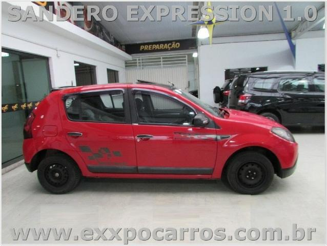 Renault Sandero Expression 1.0 Flex - Ano 2010 - Teto Solar - Bem Conservado - Foto 7