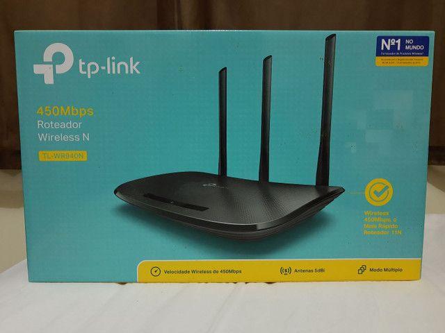 Roteador wireless N 450 Mbps tp- link semi novo - Foto 3