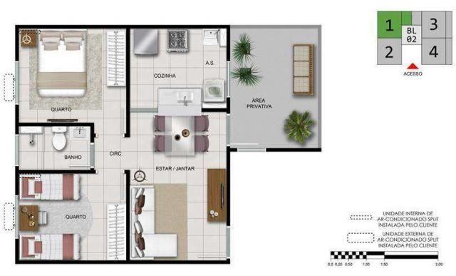 Gran Canária - Apartamento de 2 quartos em Goiânia, GO - ID3850 - Foto 9