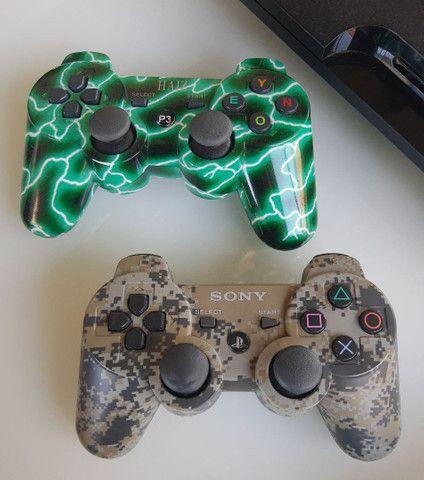 Play 3, 2controles, 1camera, 12 jogos - Foto 3