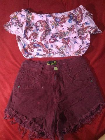 Dois Shorts Jeans com Lycra 38 por R$20