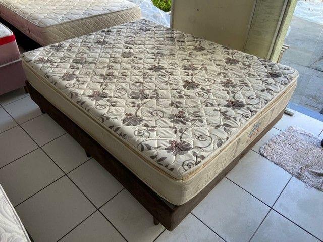 Probel cama queen size semi nova espuma