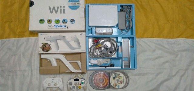 Nintendo Wii completo com arma e jogos originais  - Foto 6