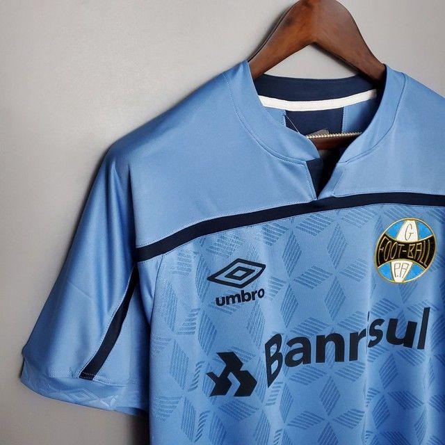 camisa do Grêmio nº 3 em comemoração aos 125 anos de futebol no brasil - Foto 3