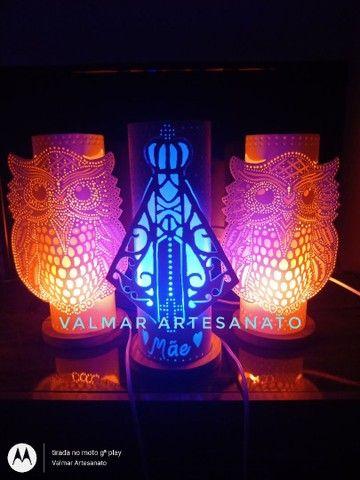 Abajures ( luminárias ) em pvc  - Foto 5
