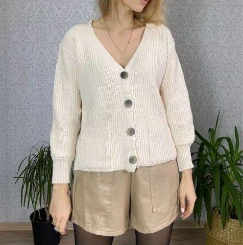 cardigan tricot bege novo, nunca usado