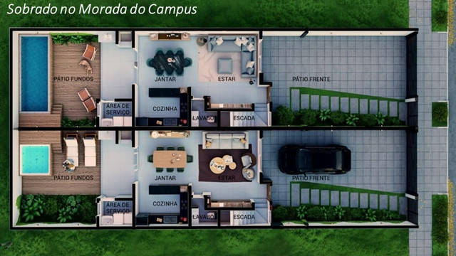 51034- Sobrado 3 dormitórios com suíte no Igara, em Canoas, Morada do Campus - Foto 9