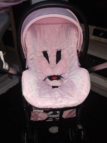 R$ 650 Carrinho Super novo + bebê Conforto - Foto 2