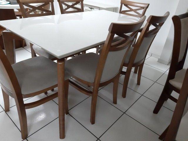 Imperdivel-Mesa retangular+ 6 cadeiras modelo terra  - Foto 2