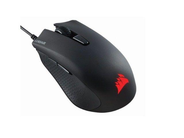 teclado e mouse com fio corsair (36059-7) ch-9206115-br k55 rgb 6000dpi - Foto 4