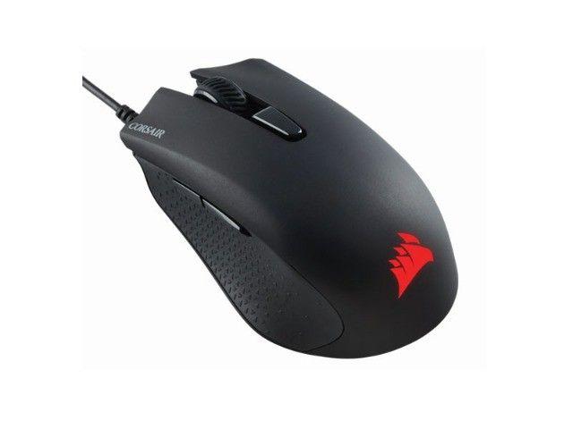 teclado e mouse com fio corsair (36059-7) ch-9206115-br k55 rgb 6000dpi - Foto 5