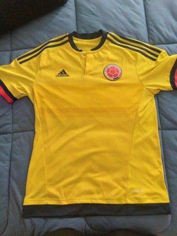 Camisa Seleção Da Colombia Usada - Tamanho M