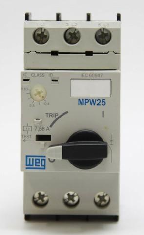 Disjuntor Motor Trifásico 6,3a - 10a Mpw25 Weg