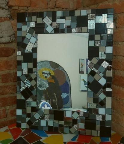 Espelho mosaico, banheiro, sala, sala de jantar, decoração - Foto 2