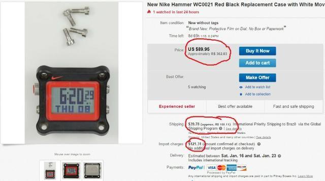 aeabeb8d064 Caixa Display Relogio Nike Hammer WC0021 Armani Exchange AX1039 Aceito  Trocas