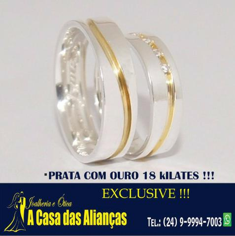 Prata** ouro 18 k e Pedras - Coisa de Luxo - LIgue 24- * - Foto 3