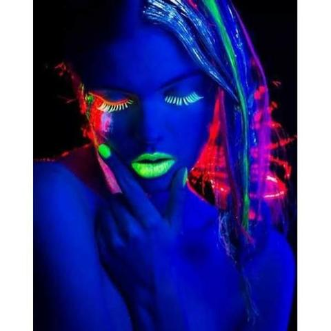Batom Neon Fluorescente Color Make Brilha na luz Negra( leia a descrição) - Foto 2