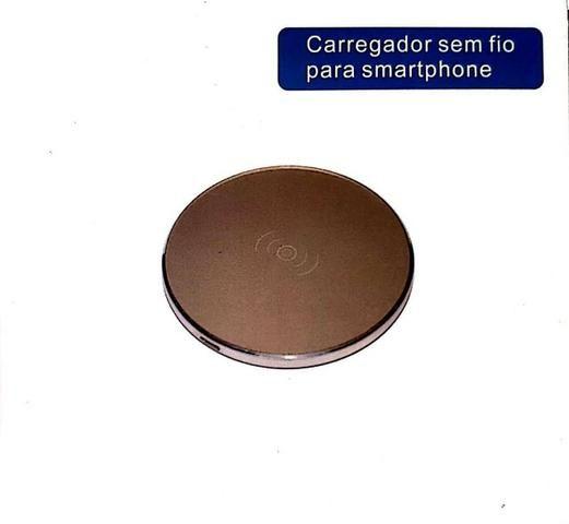 Base Carregador S/ Fio Qi Wireless Charger - Mega Infotech - Foto 4