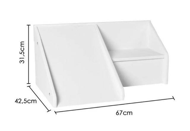 Mini Escadinha com Escorregador em MDF/Laca Branco