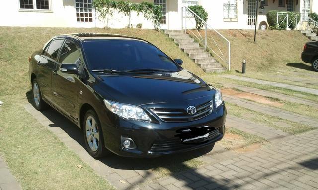 Toyota Corolla 2.0 16v Flex 4p preto 11/12 c/ kit multimídia - Foto 3