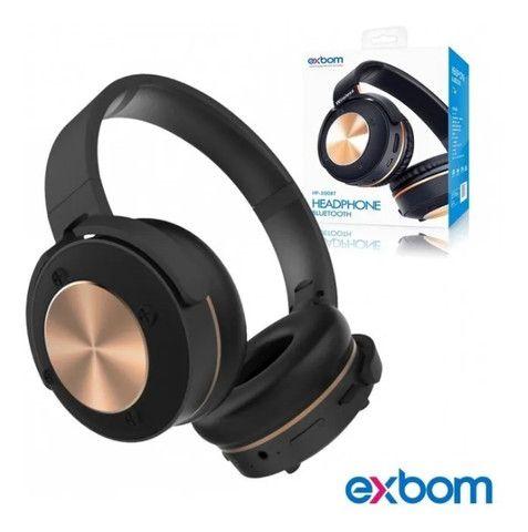 R$124,90 - Headphone Fone De Ouvido Exbom Hf-500bt Bluetooth Sem Fio - Foto 3