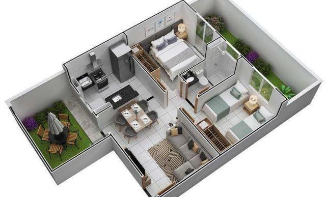 Chapada dos Ipês - Apartamento de 2 quartos em Várzea Grande, MT - ID3963 - Foto 9