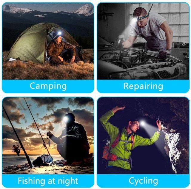Farol Recarregável à Prova d'água para Camping, Caminhadas, ao ar livre - Foto 5